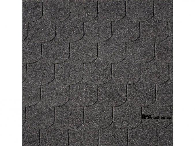 IKO Superglass Biber asfaltový šindel 01 - černá