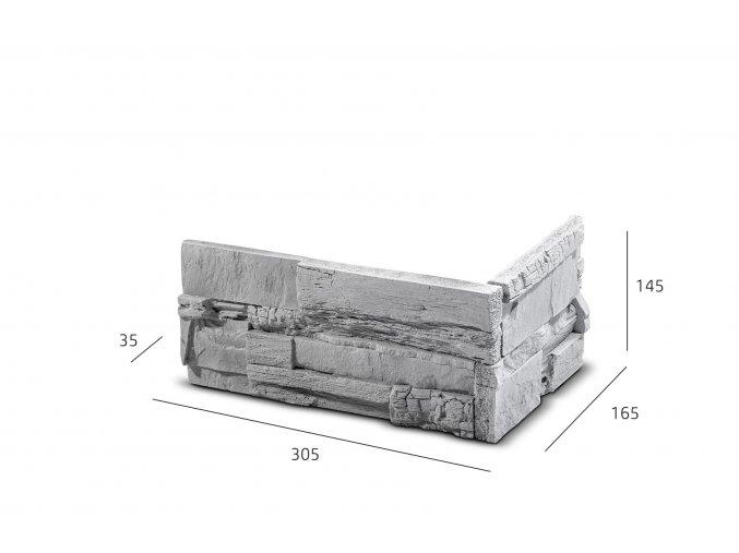 ROH Kamenný obklad ASTRA 305x165x145x35 mm Beton balení 0,87bm
