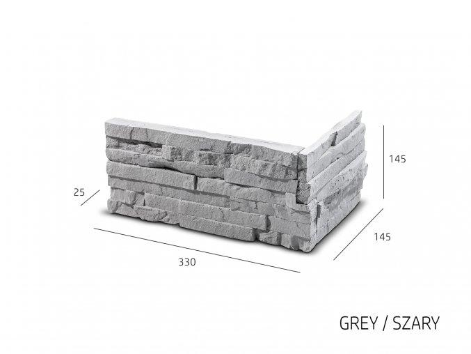 ROH Obkladový kámen TEPIC 330x145x145x25 mm Sádra balení 0,87bm
