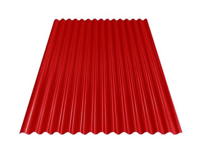 Vlnitý plech S18 - RAL 3011 (Červená) 0,4x883x3000 mm