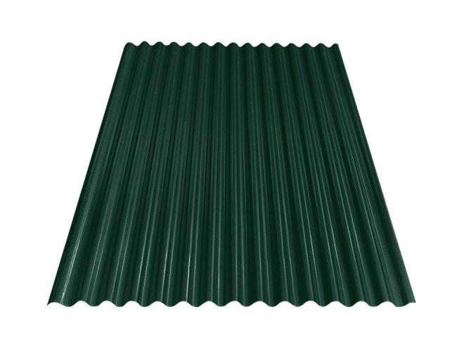 Vlnitý plech S18 - RAL 6005 (Zelená) 0,4x883x3000 mm