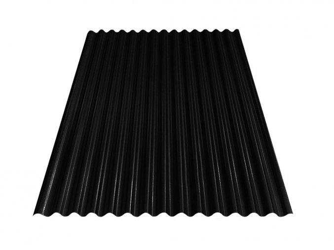 Vlnitý plech S18 - RAL 9005 (Černá) 0,4x883x3000 mm