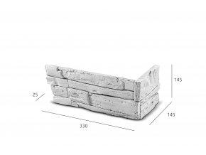 ROH Kamenný obklad FASÁDA světle šedá 330x145x145x25 mm Beton balení 0,87bm