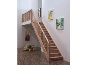 Dřevěné schody HOME přímé
