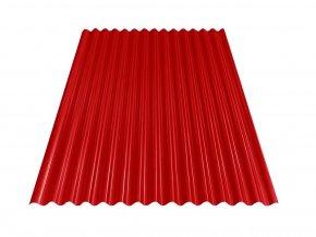 Vlnitý plech S18 - RAL 3011 (Červená) 0,4x883x2000 mm