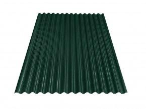 Vlnitý plech S18 - RAL 6005 (Zelená) 0,4x883x2500 mm