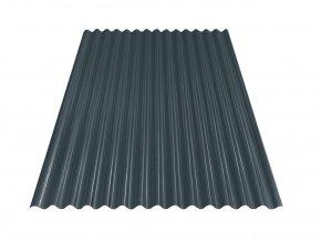 Vlnitý plech S18 - RAL 7016 (Antracit) 0,4x883x2000 mm