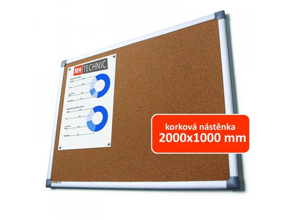 Korková nástěnka 2000x1000 mm