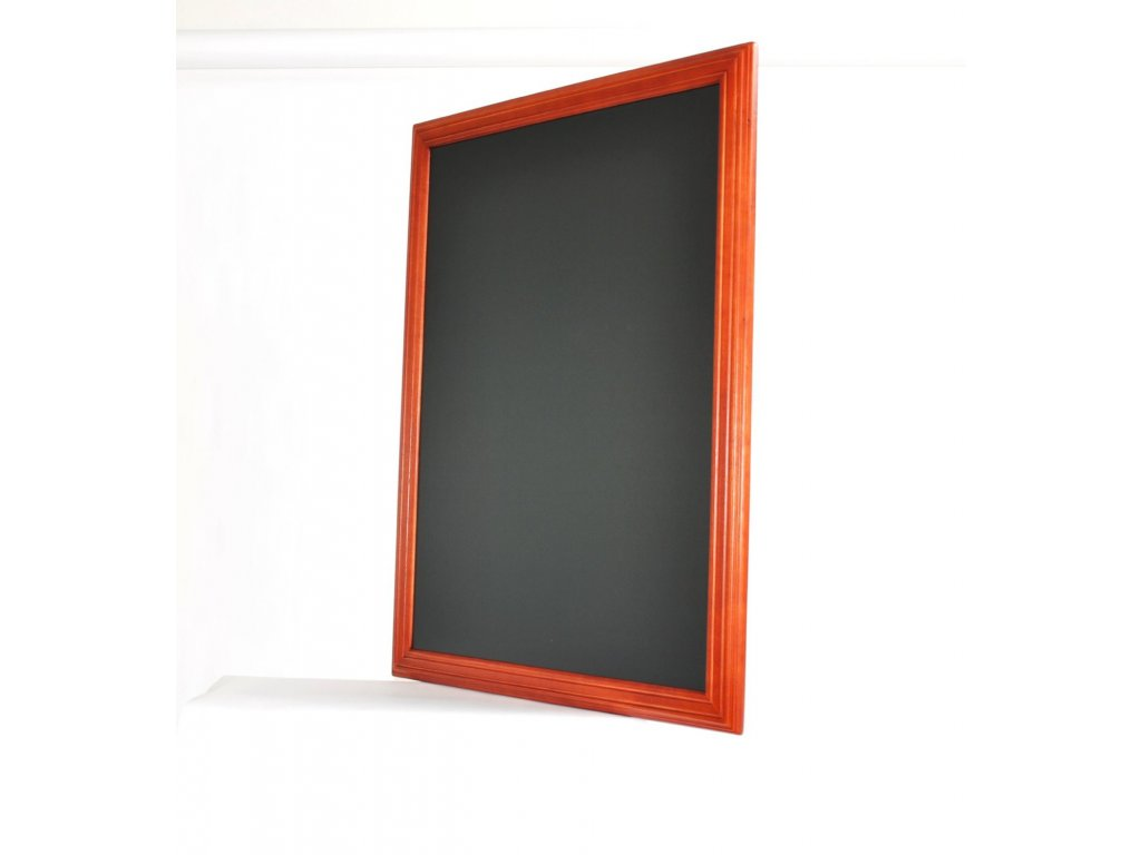 Dřevěná reklamní tabule Premium, 70x90 cm, mahagon