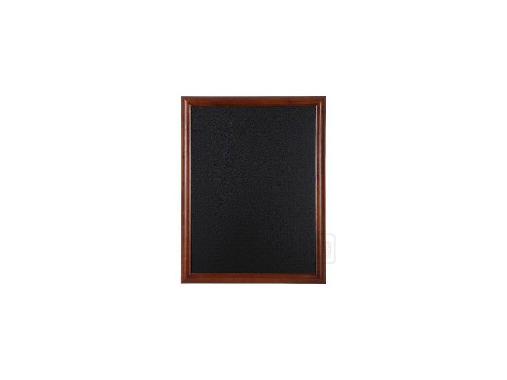Dřevěná reklamní tabule Premium, 70x90 cm, tmavě hnědá
