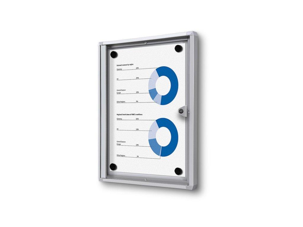 SCXS1xA4 - Interiérová vitrína Economy 1xA4 - plechová záda