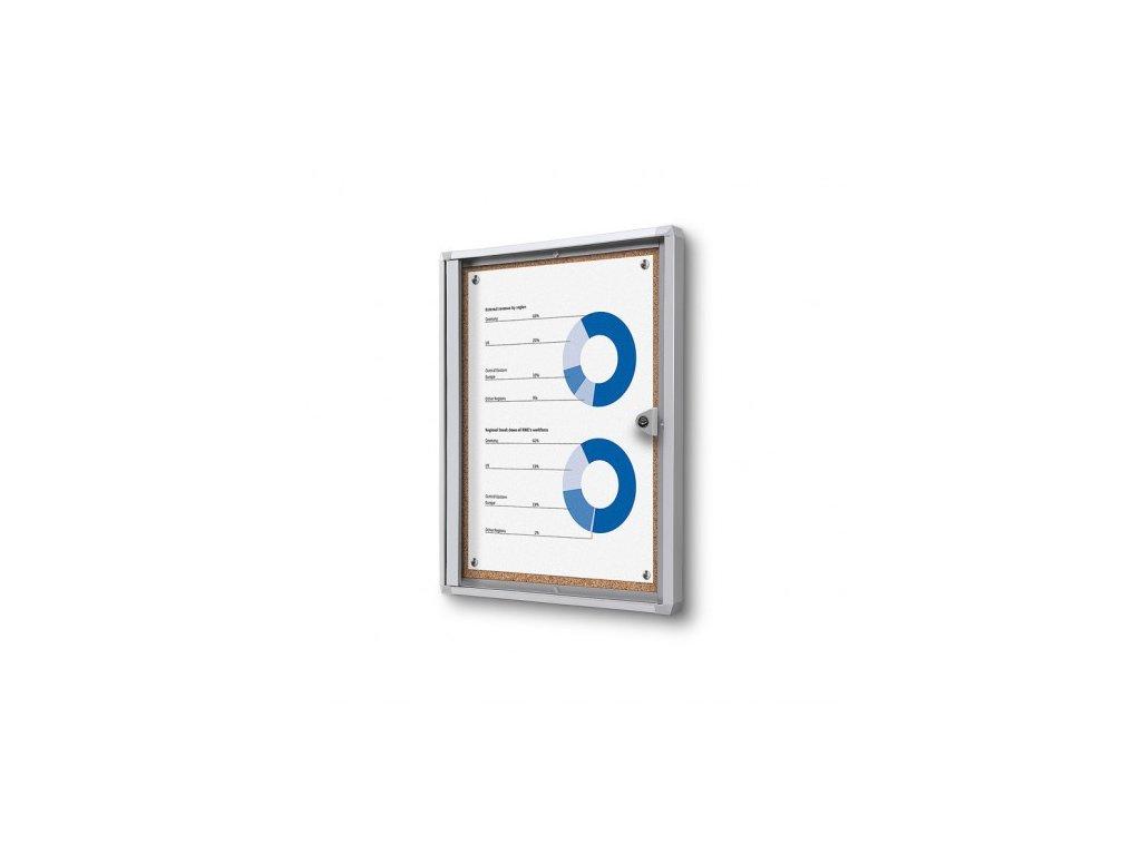 SCXSC1xA4 - Interiérová vitrína Economy 1xA4 - korková záda
