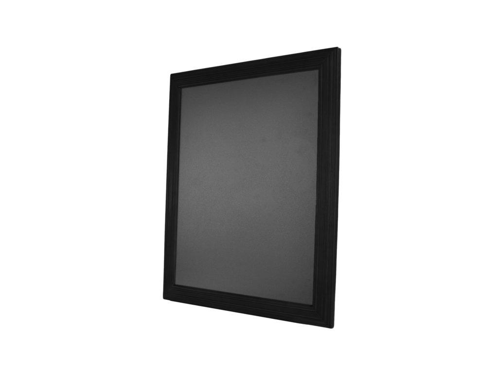 Dřevěná reklamní tabule Premium, 70x90 cm, černá