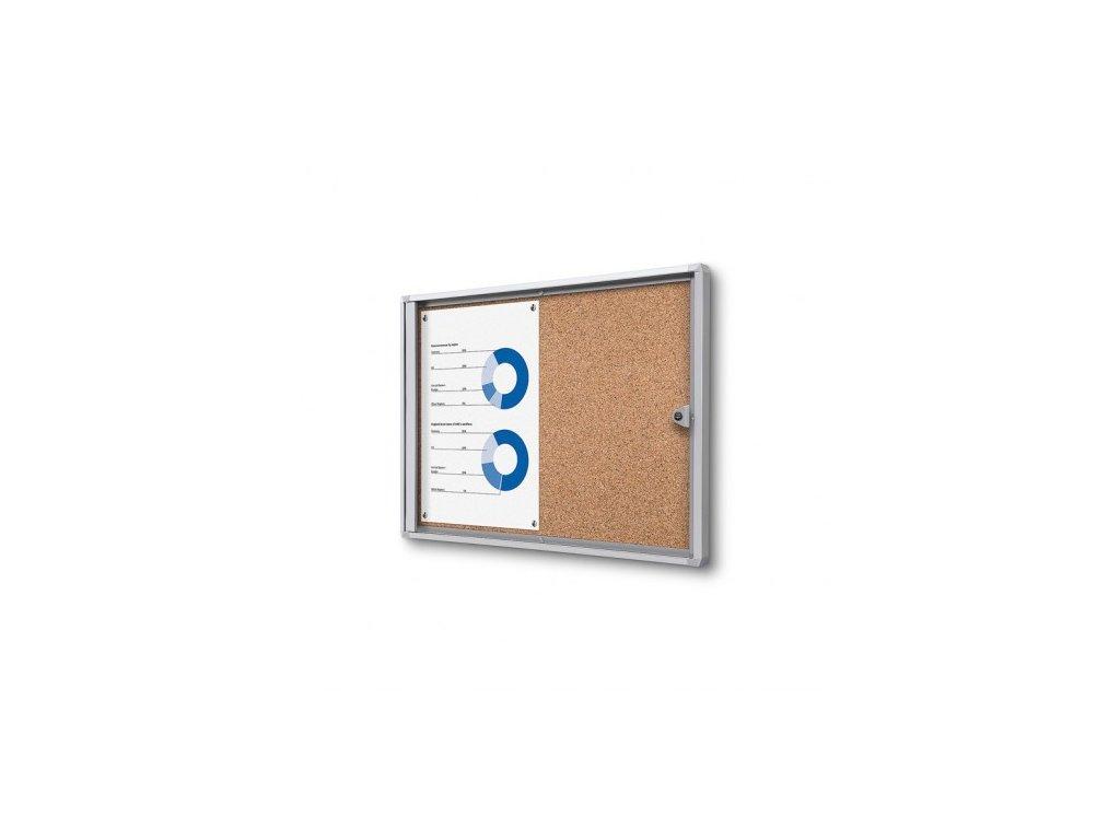 SCXSC2xA4 - Interiérová vitrína Economy 2xA4 - korková záda