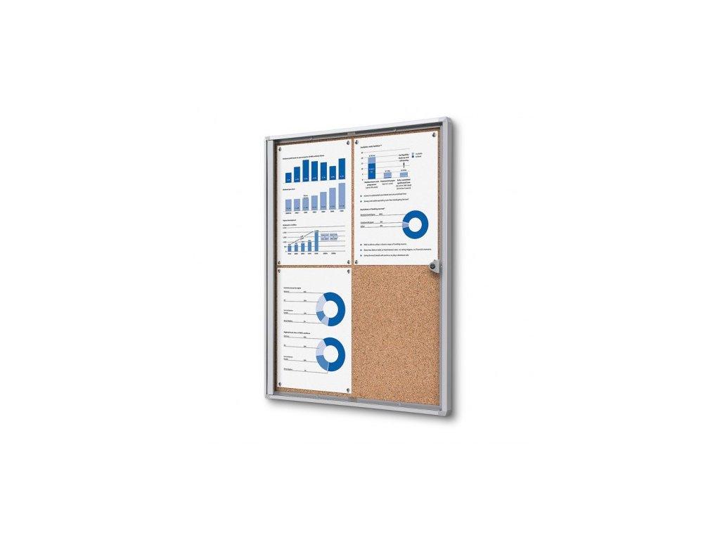 SCXSC4xA4 - Interiérová vitrína Economy 4xA4 - korková záda