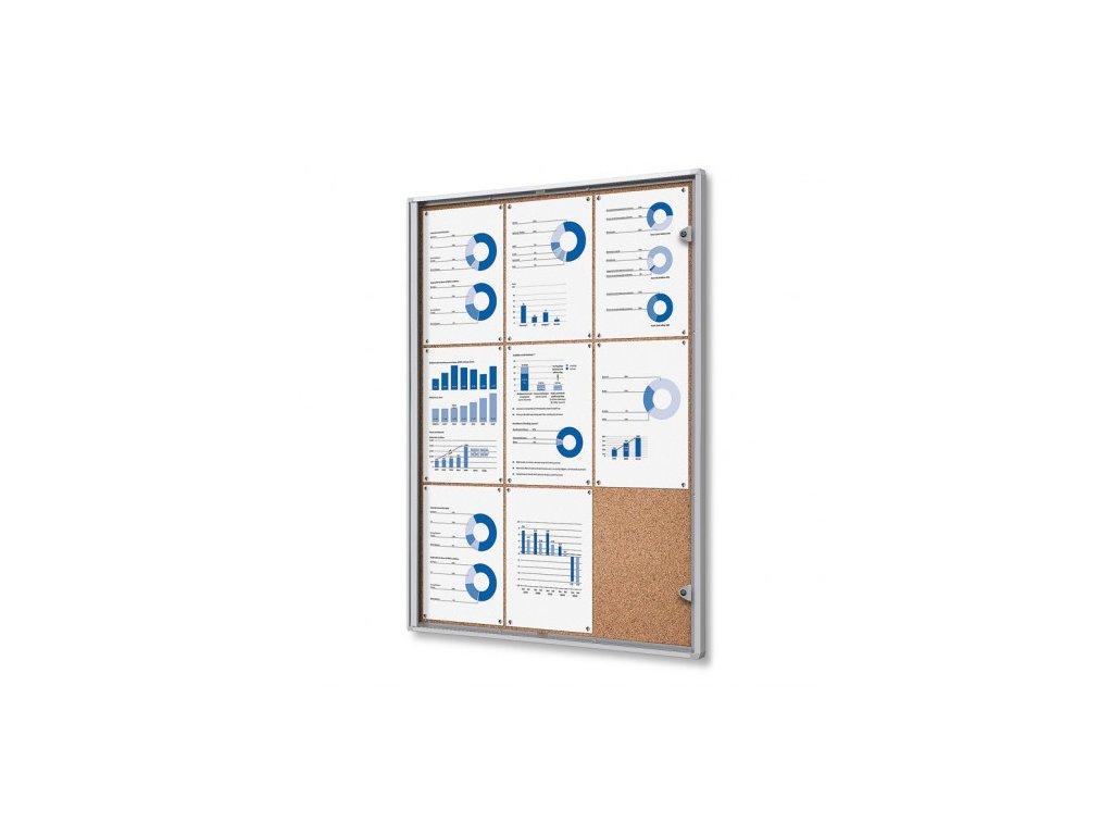 SCXSC9xA4 - Interiérová vitrína Economy 9xA4 - korková záda