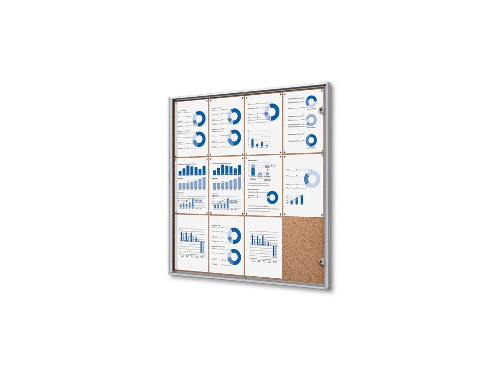 SCXSC12xA4 - Interiérová vitrína Economy 12xA4 - korková záda