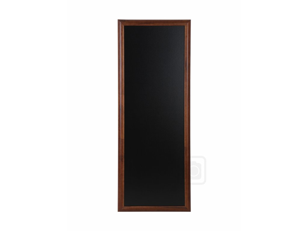 Dřevěná reklamní tabule Premium Long, 56x100 cm, tmavě hnědá