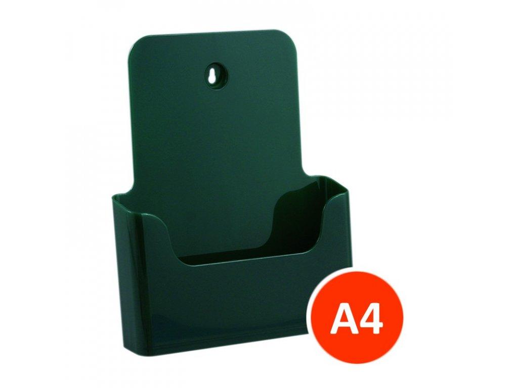 Stolní stojánek na letáky A4, zelený, balení 24ks