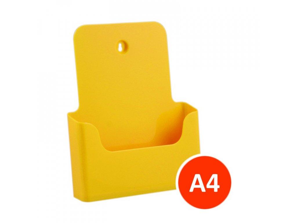 Stolní stojánek na letáky A4, žlutý