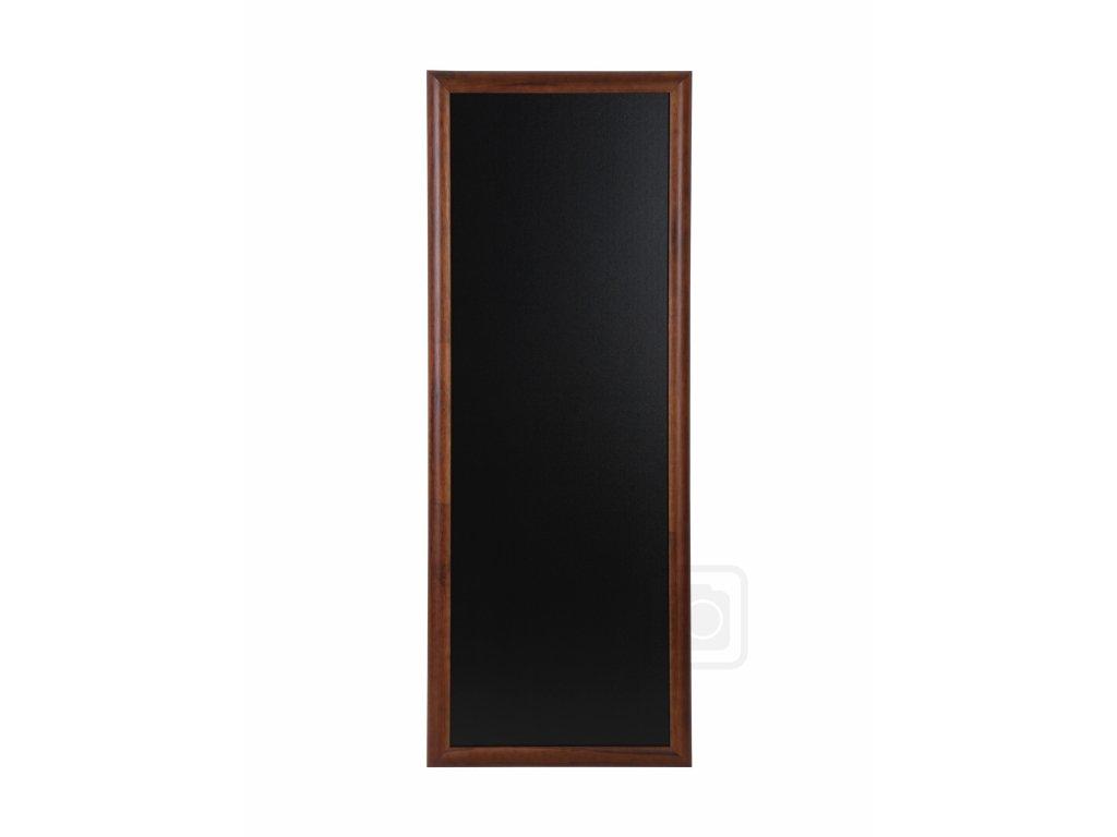 Dřevěná reklamní tabule Premium Long, 56x170 cm, tmavě hnědá