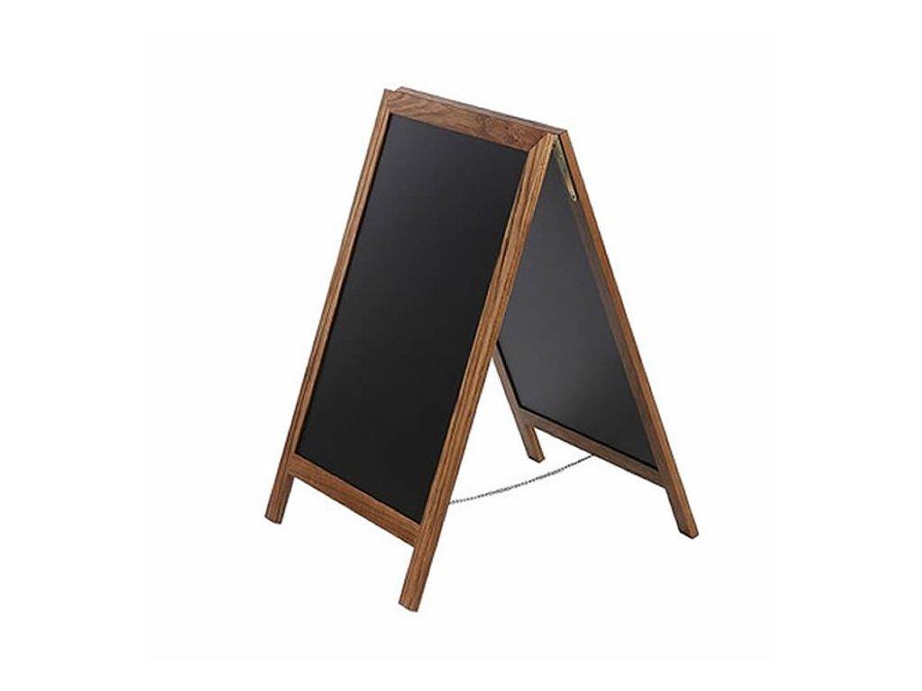 Dřevěný poutač Premium, 70x120 cm, teak