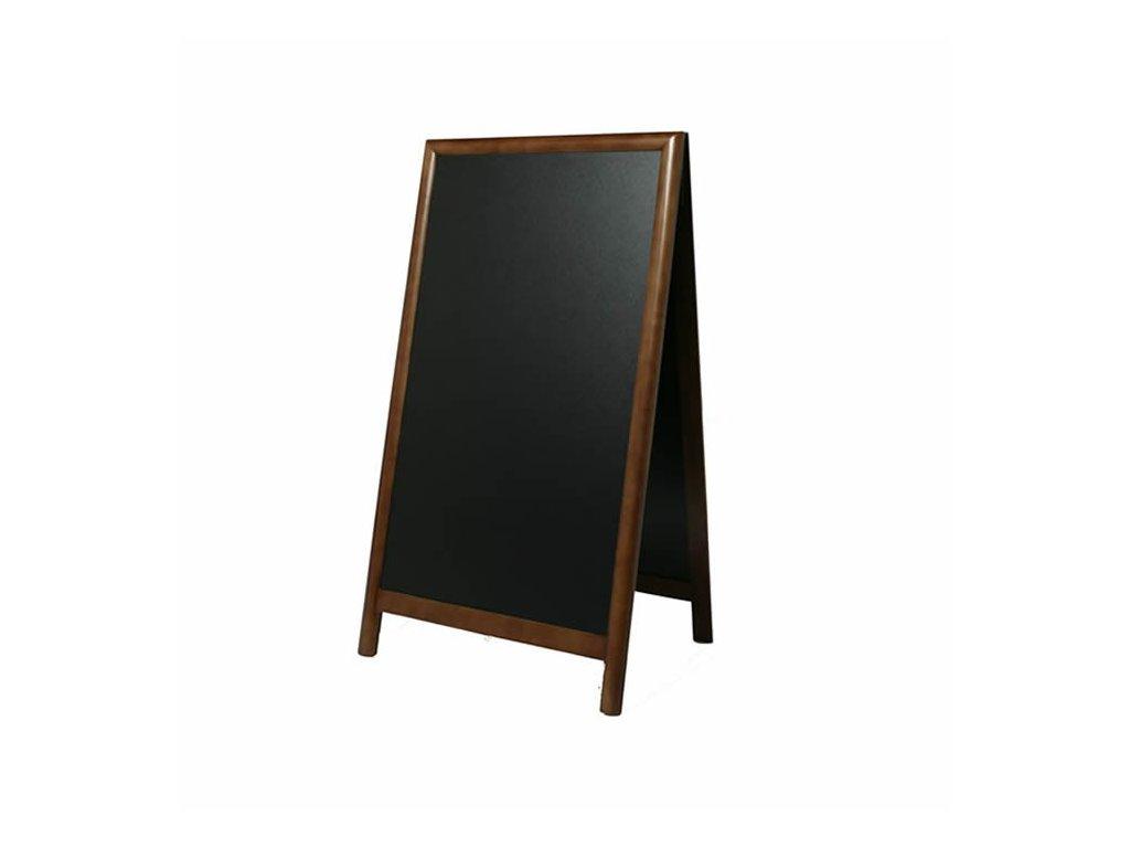Dřevěný poutač Premium, 70x120 cm, tmavě hnědý