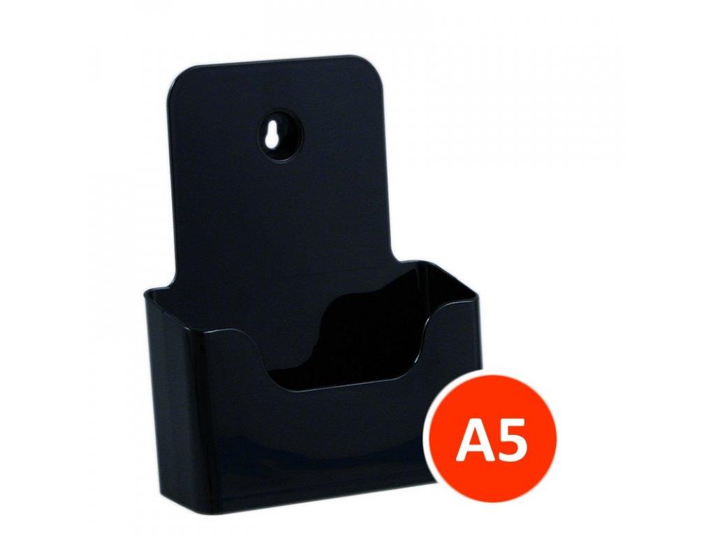 Stolní stojánek na letáky A5, černý