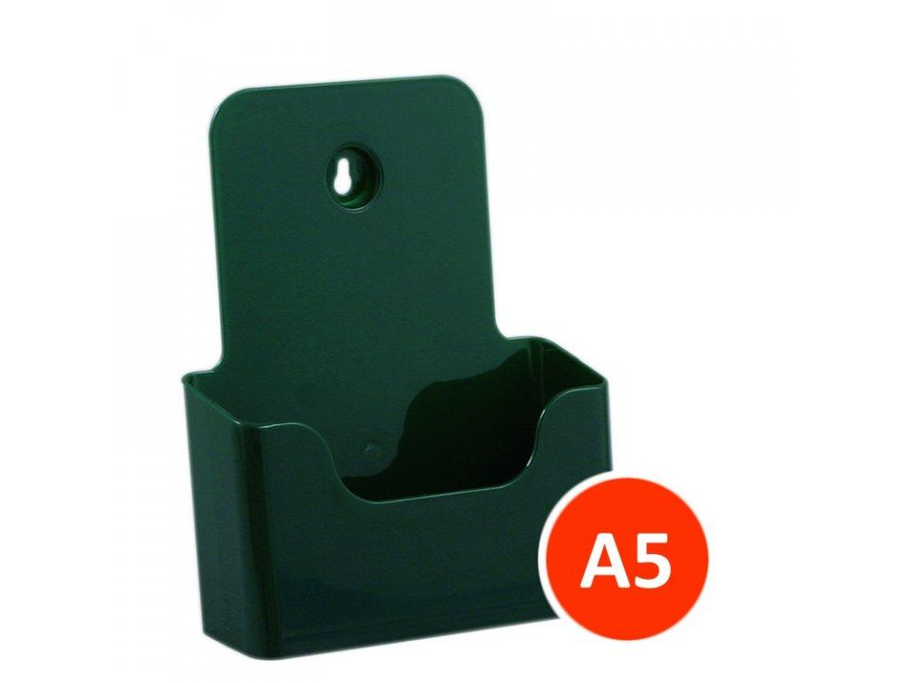 Stolní stojánek na letáky A5, zelený