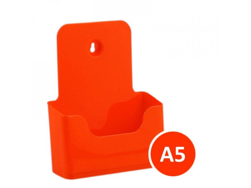 Stolní stojánek na letáky A5, oranžový