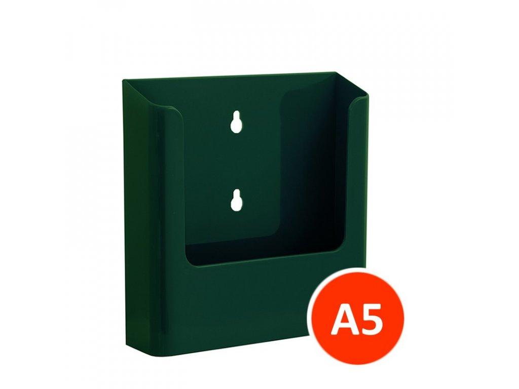 Nástěnný zásobník na letáky A5, zelený