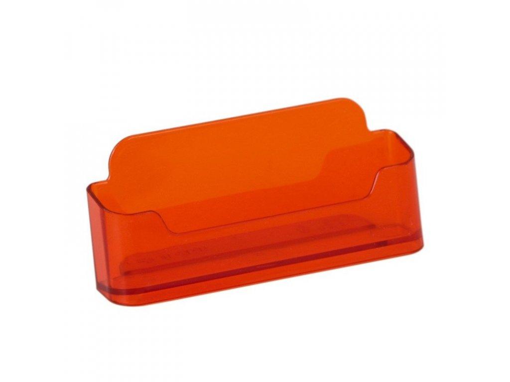 Stolní stojánek na vizitky, jednoduchý - tónovaný oranžový