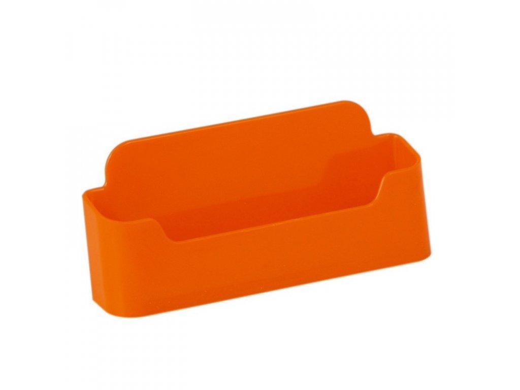 Stolní stojánek na vizitky, jednoduchý - oranžový