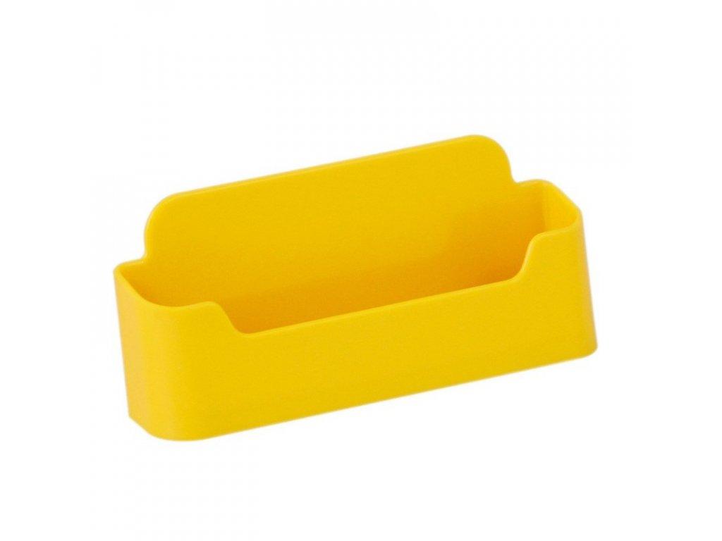 Stolní stojánek na vizitky, jednoduchý - žlutý
