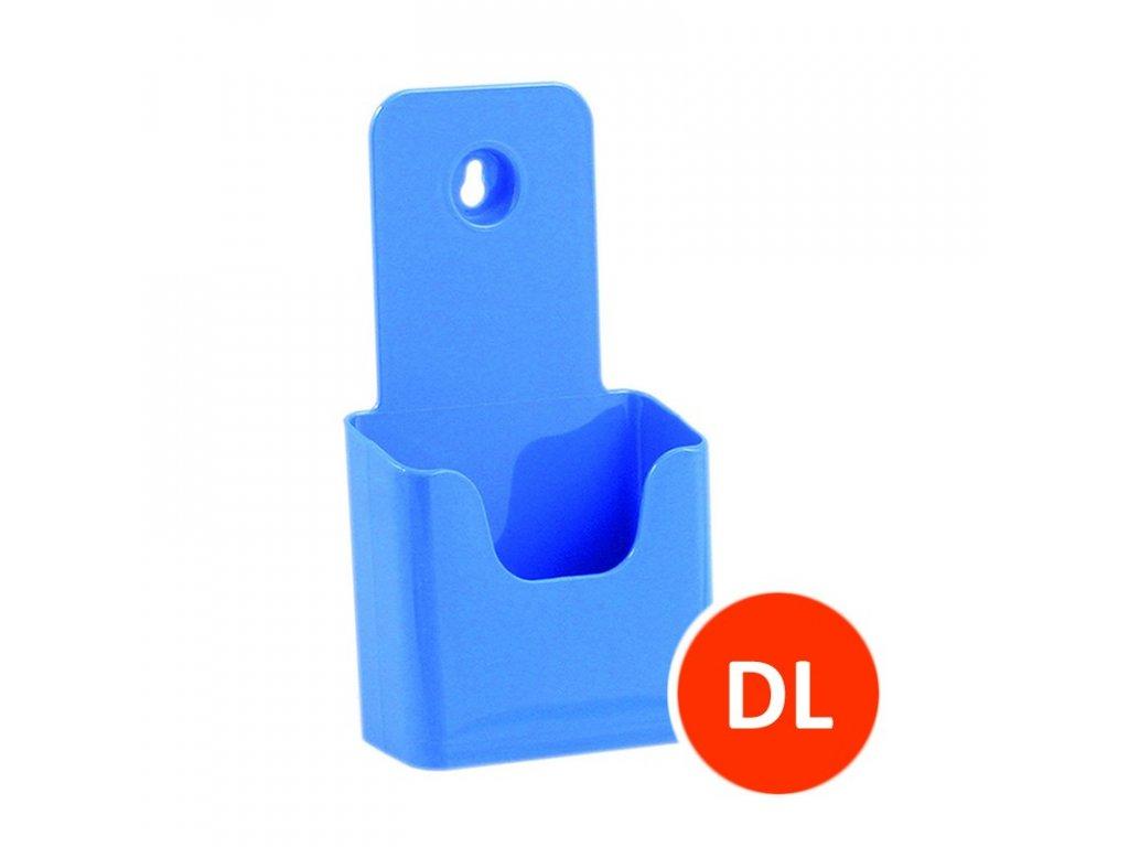 Stolní stojánek na letáky DL, modrý
