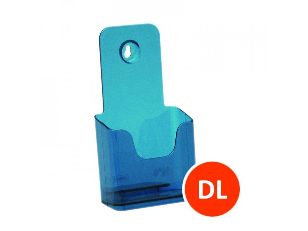 Stolní stojánek na letáky DL, tónovaný modrý