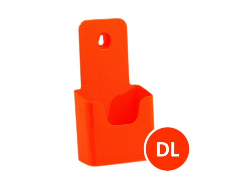 Stolní stojánek na letáky DL, oranžový