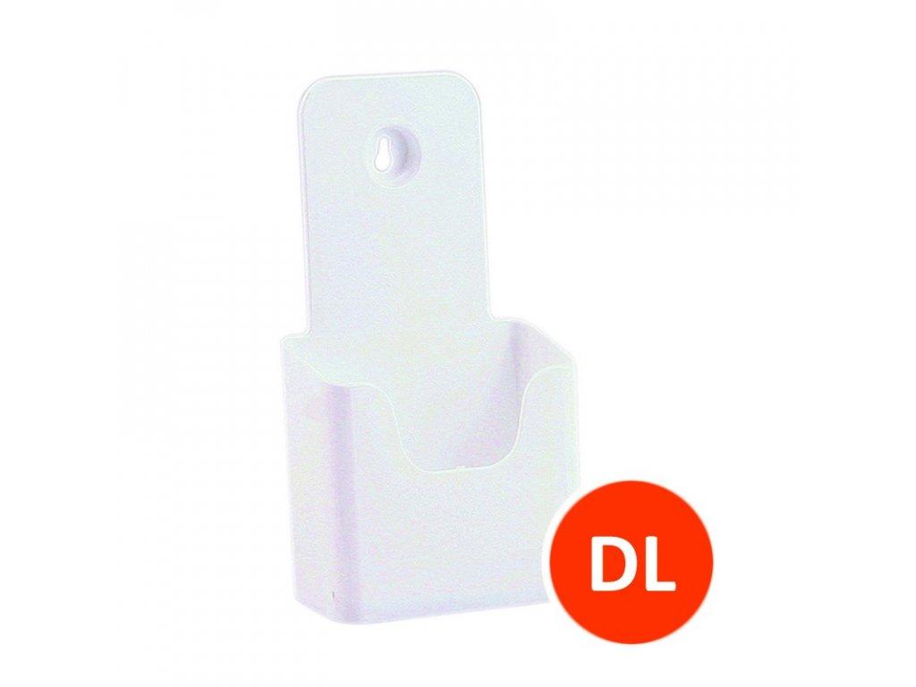 Stolní stojánek na letáky DL, bílý