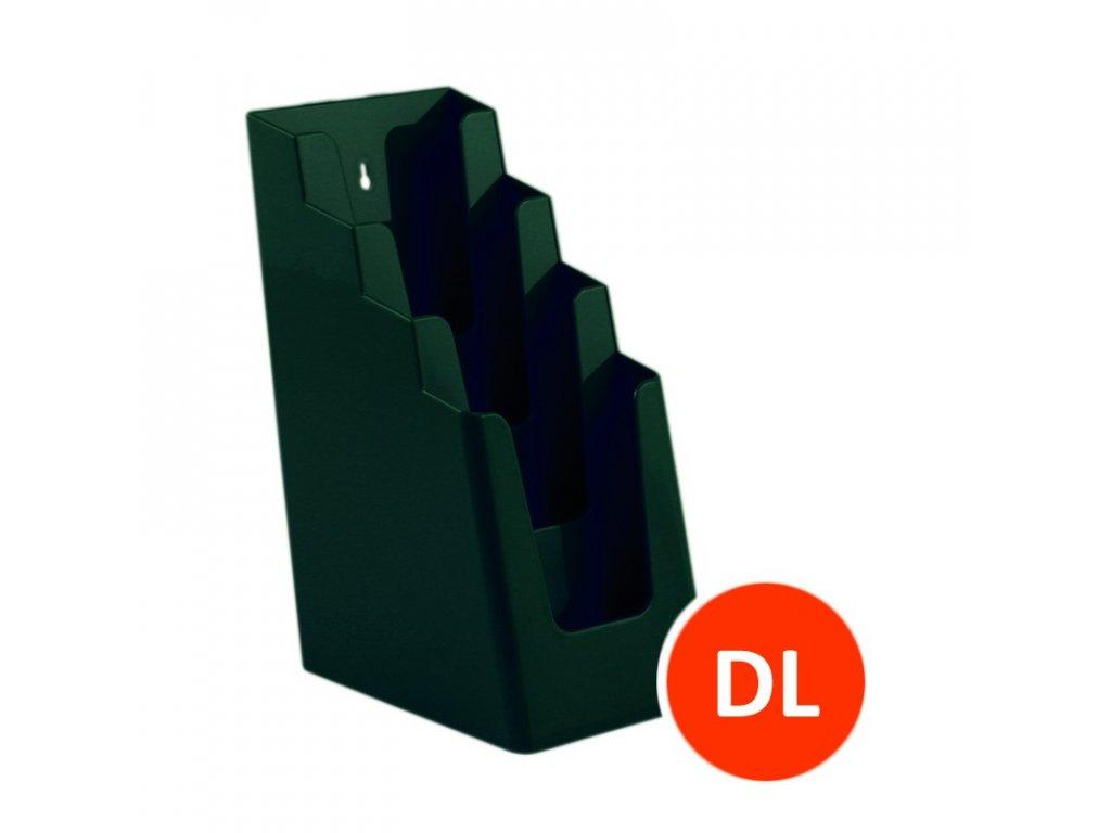 Stolní stojánek na letáky 4xDL, zelený