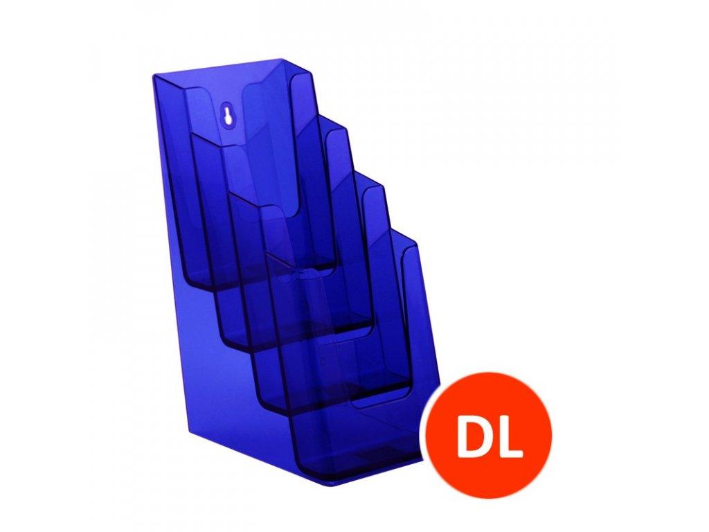 Stolní stojánek na letáky 4xDL, tónovaný fialový