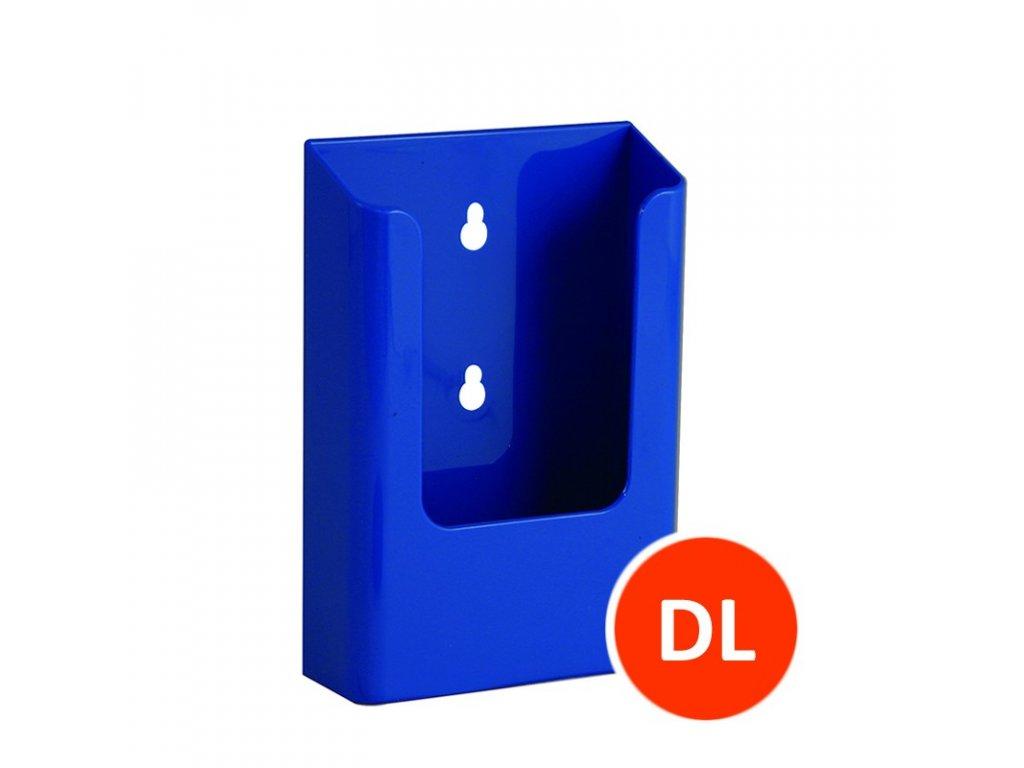 Nástěnný zásobník na letáky DL, modrý