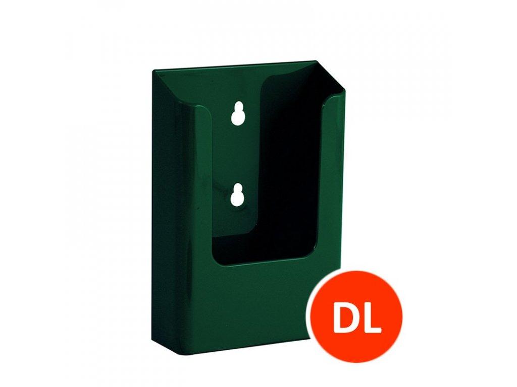 Nástěnný zásobník na letáky DL, zelený, balení 30ks