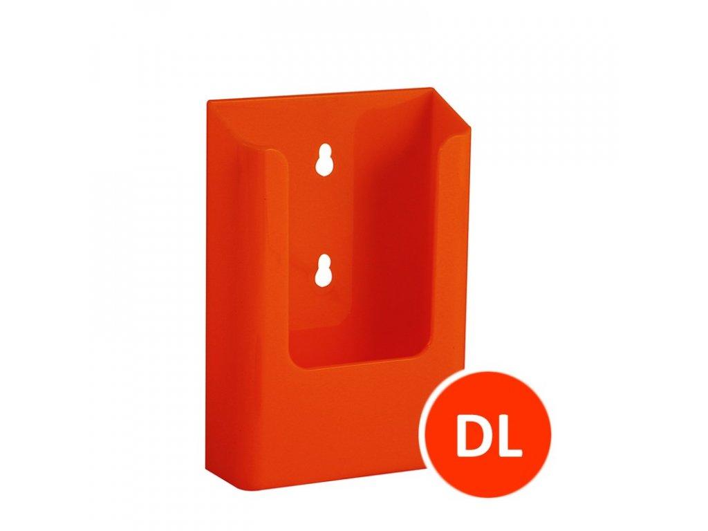 Nástěnný zásobník na letáky DL, oranžový