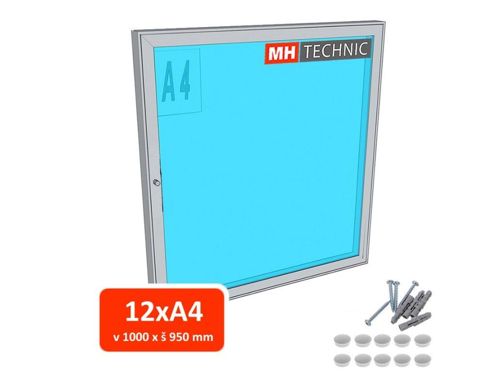 Venkovní informační vitrína MH60, 1000x950 mm (12xA4)