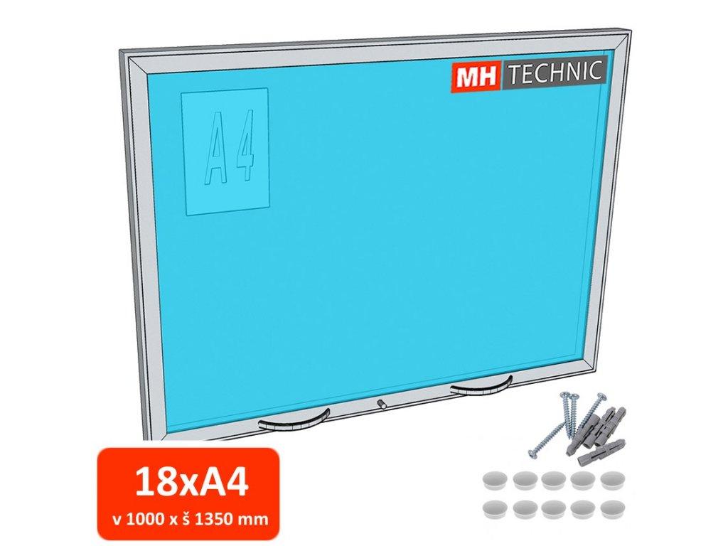 Venkovní informační vitrína MH60, 1000x1350 mm (18xA4)
