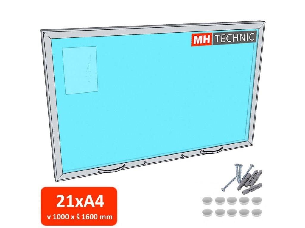 Venkovní informační vitrína MH60, 1000x1600 mm (21xA4)