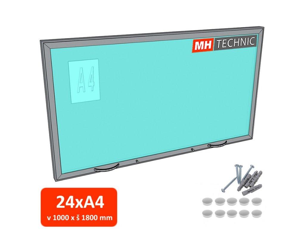 Venkovní informační vitrína MH60, 1000x1800 mm (24xA4)