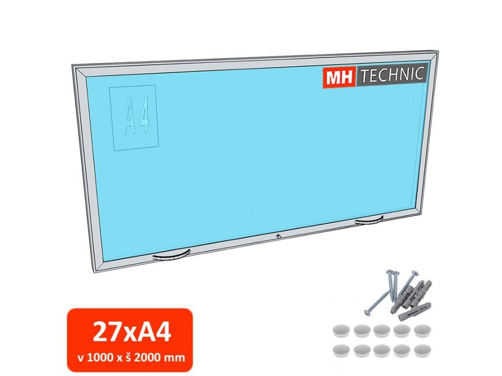 Venkovní informační vitrína MH60, 1000x2000 mm (27xA4)