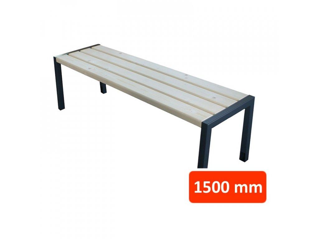 Parková lavička CS bez opěradla, šířka 1500 mm