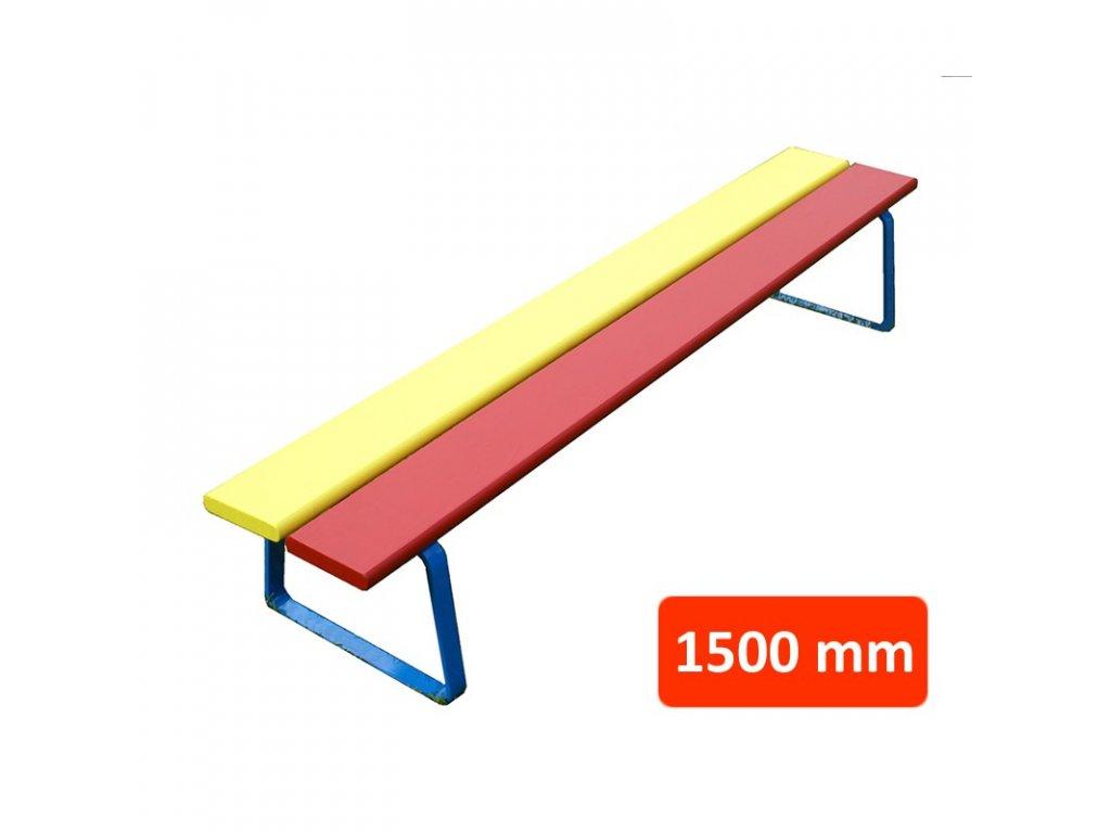 Dětská lavička N1 bez opěradla, šířka 1500 mm